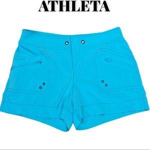 Athleta Turquoise Surf Shorts, Size 2